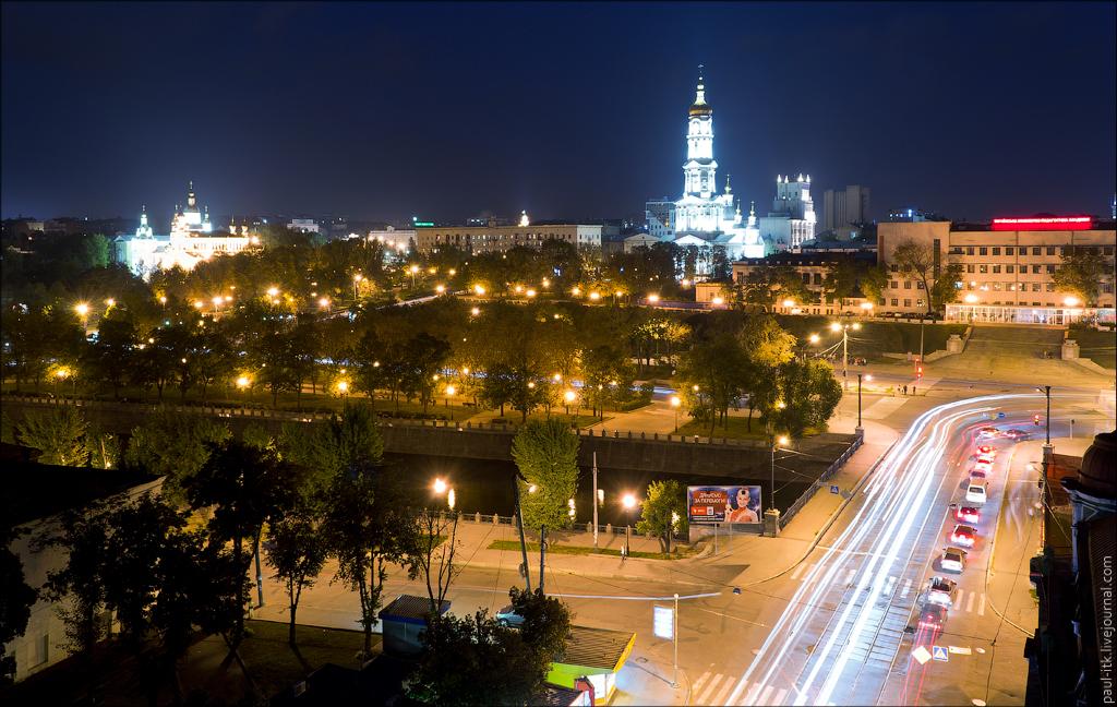 Жилабыла Зима как выглядит заснеженный парк Глобы ночью