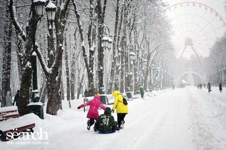 Парк Горького зима
