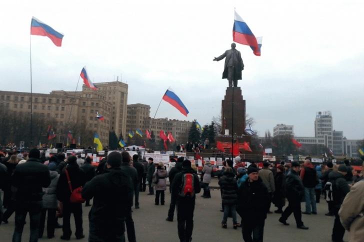 Митинг возле Ленина в Харькове