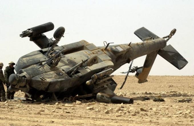 сбитый вертолет