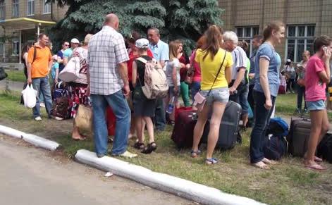 беженцы славянск