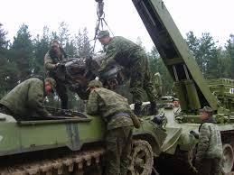 ремонт танка в полевых условиях
