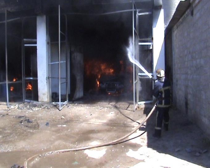 ликвидация пожара ГК на Бакулена-02