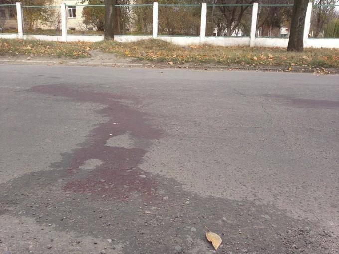 Место задержания: кровь на асфальте