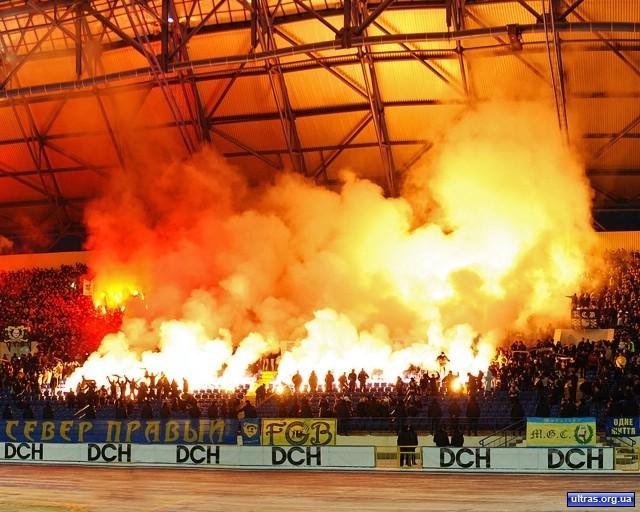 Файер-шоу на Матче с Днепром, 2009 г.