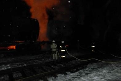 тушение пожара Шебелинка
