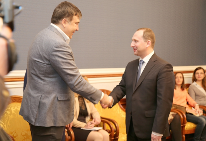 Встреча Михаила Саакашвили и Игоря Райнина. Фото: пресс-служба ХОГА.
