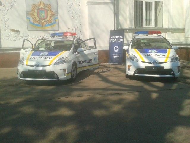 Фото с презентации новой патрульной полиции.