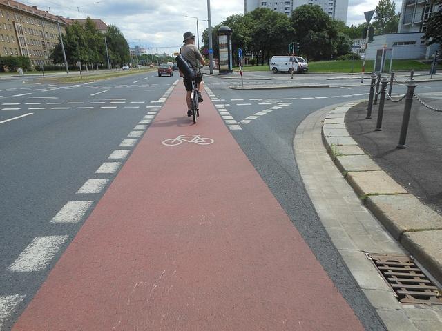 Велодорожка в Дрездене.