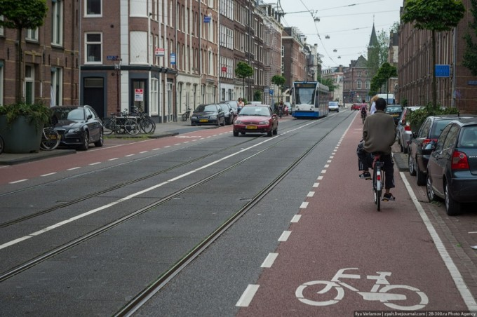 Велодорожки Амстердама.
