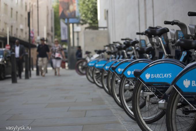 Велопарковка в Лондоне