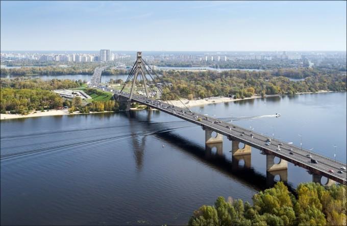 Мосты Киева: вид с высотки