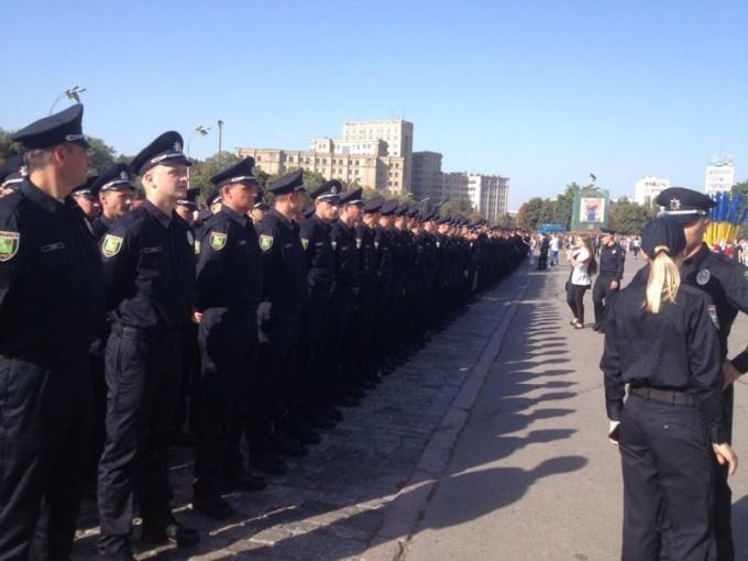 Полицейские Харькова приносят Присягу. Фото: IT Sector.