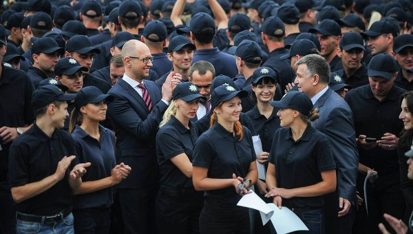 Яценюк-Аваков-полиция