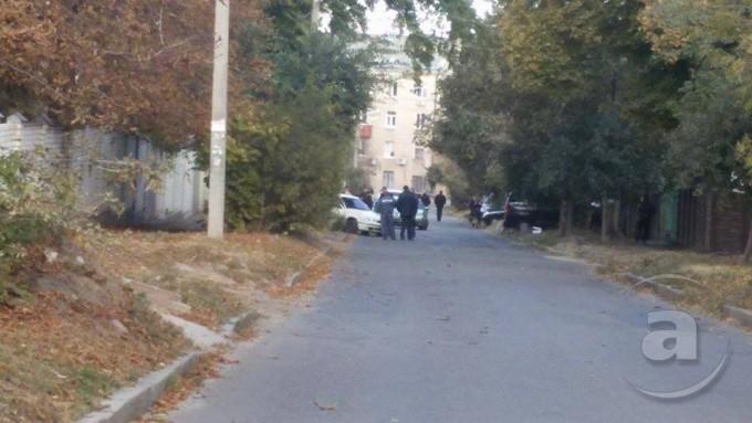 Место преступления, улица Чехова. Фото: Анна Бровко