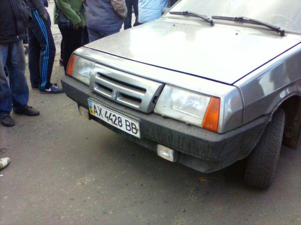 Автомобиль неизвестных. Фото из соцсети.