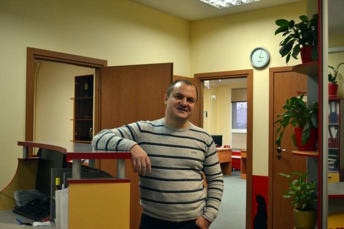 А. Колб в офисе