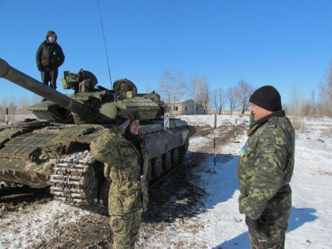 Харьковская танкистка Татьяна Кучерявая. Фото: пресс-служба Министерство обороны Украины.