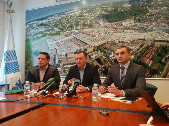 Пресс-конференция с представителями ТЦ «Барабашово». Фото: «Главное».