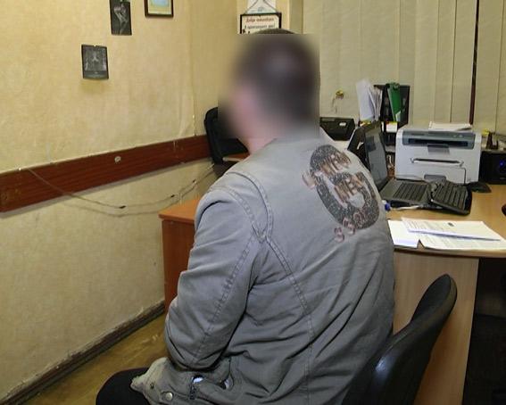 Задержанный. Фото: ГУ НП Украины в Харьковской области.