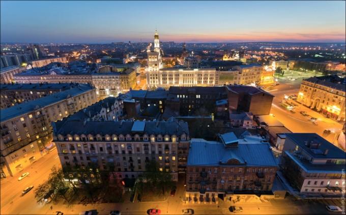 Квартиры посуточно в Харькове. Вид с высоты