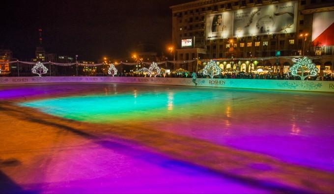 Каток на площади Свободы. Фото: пресс-служба Харьковского городского совета.