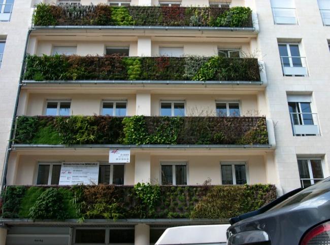 Проект вертикального озеленения Патрика Бланка в Бордо, Франция. Фото: www.adme.ru
