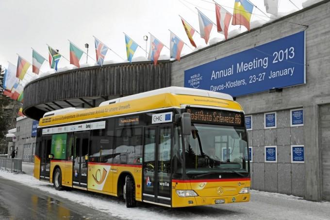 Автобус Mercedes-Benz Citaro FuelCell Hybrid в Давосе, Швейцария. Фото: blogdocaminhoneiro.com