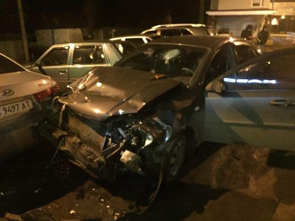 «Chevrolet Lacetti», за рулем которого находился нетрезвый мужчина. Фото: Роман Алексенко.