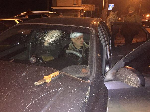 Виновник ДТП, который влетел в пост ДПС. Фото: Роман Алексенко.