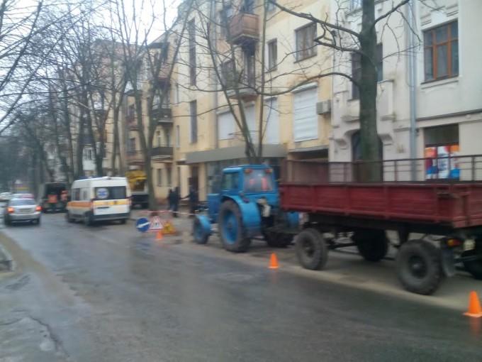 Место инцидента, улица Лермонтовская. Фото: «Главное».
