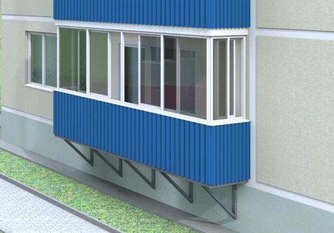 naruzhnaja-otdelka-balkona-proflistom