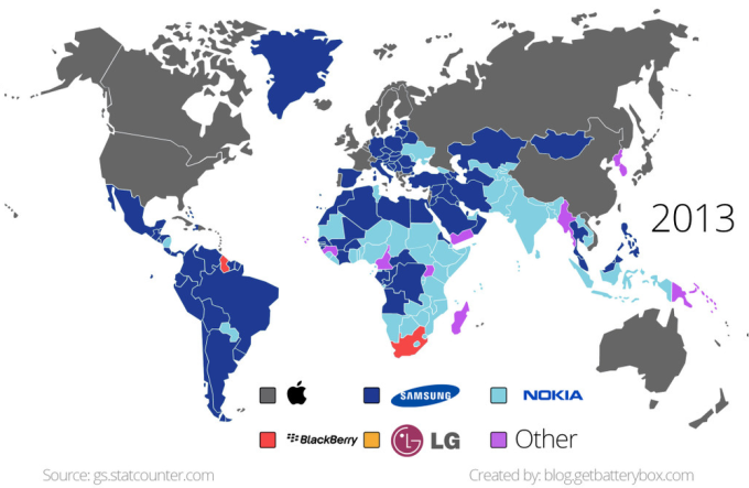 рынок смартфонов 2013