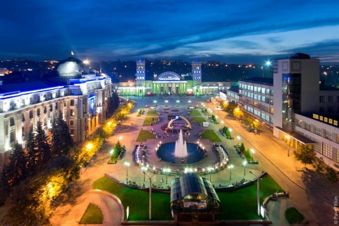 Вид на Привокзальную площадь. Автор фото: Павел Иткин.