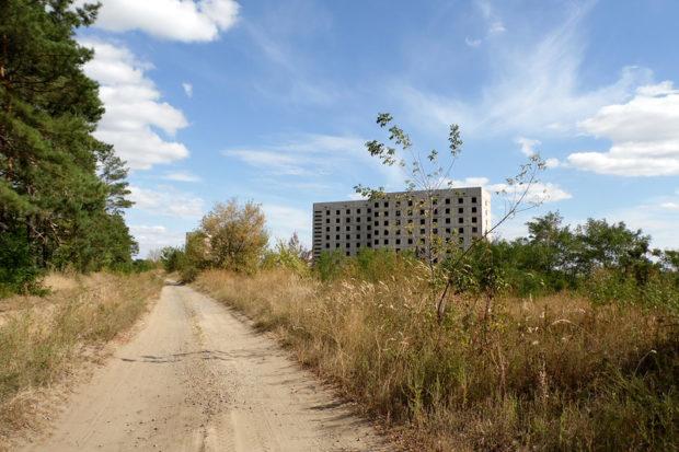 Заброшенный город для работников атомной станции