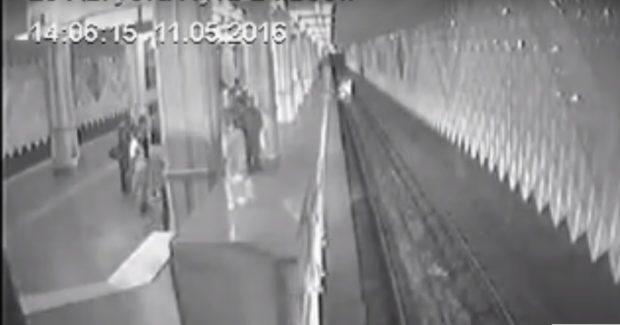 прыжок в метро