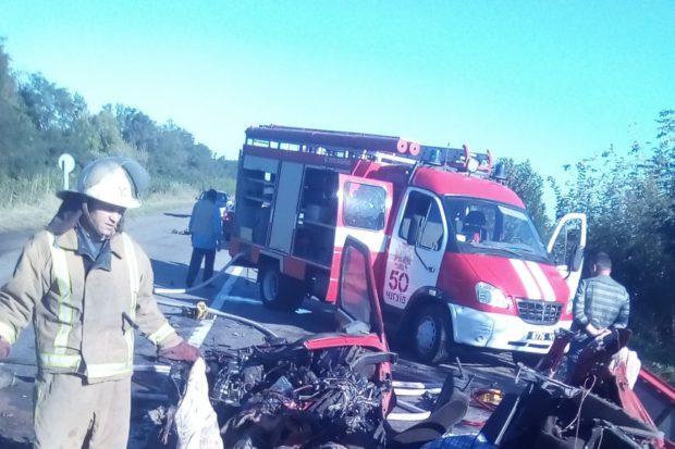 ВДТП попал автобус «Москва— Константиновка», есть погибшие