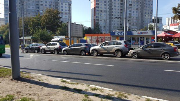 НаАлексеевке столкнулись сразу 5 машин