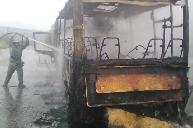 автобус балаклея пожар пассажиры