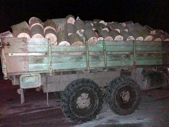 груз древесина зил