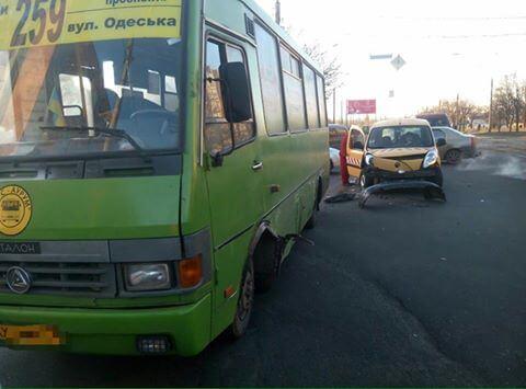 авария дтп маршрутка иномарка