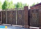 Откатные филенчатые и откатные кованые ворота в Харькове