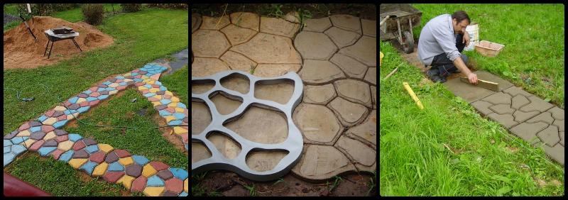 изготовление плиток для дачных дорожек своими руками