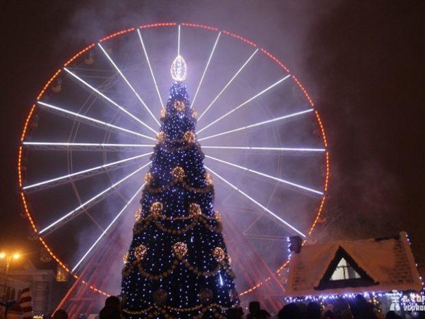 Новый год Парк Горького