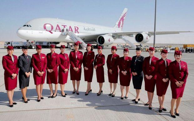 Стюардессы Катарских авиалиний