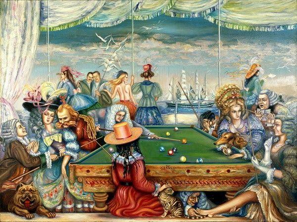 Игра в бильярд в истории