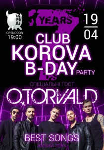 KOROVA B-DAY PARTY with special guest O.TORVALD Харьков