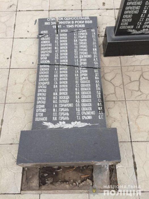 Под Харьковом разбили мемориальный комплекс погибшим в годы Второй мировой войны