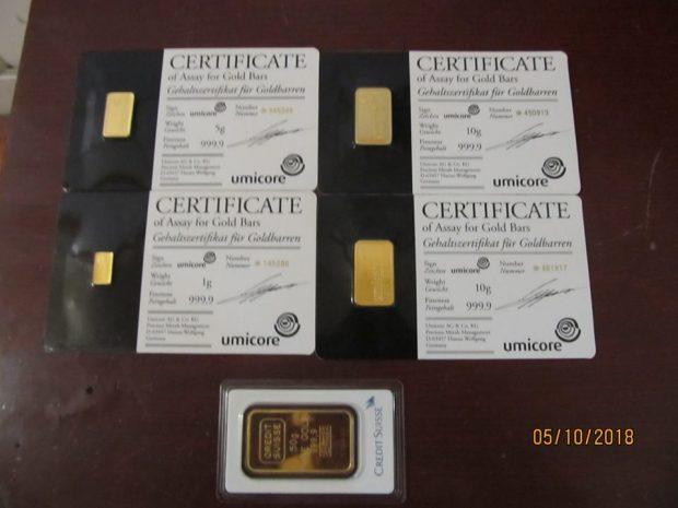 В дамской сумочке харьковские таможенники обнаружили слитки золота
