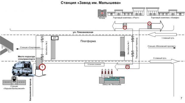 """На станции метро """"Завод имени Малышева"""" на четыре месяца закрывают вестибюль"""